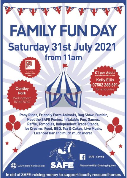 SAFE -Saving Abandoned Flygrazing Equines – Family Fun Day – Saturday 31st July 2021